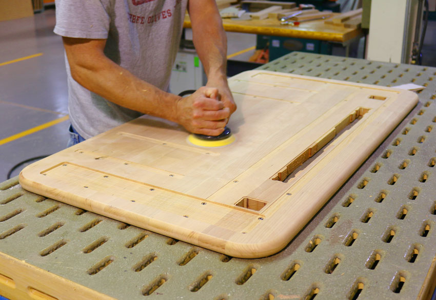 Sanding on a Loft Desk Top