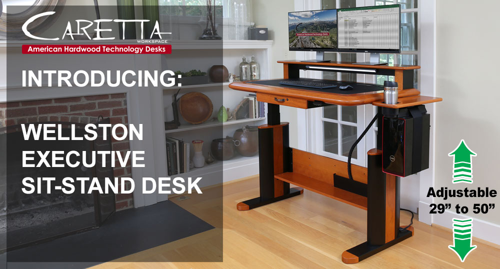 NEW!! - Introducing the Wellston Executive Sit Stand Desk!