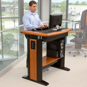 pick a category to view products standing desks