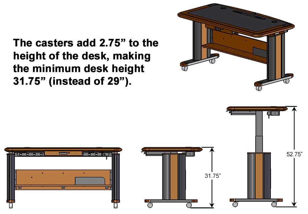 Desk Casters