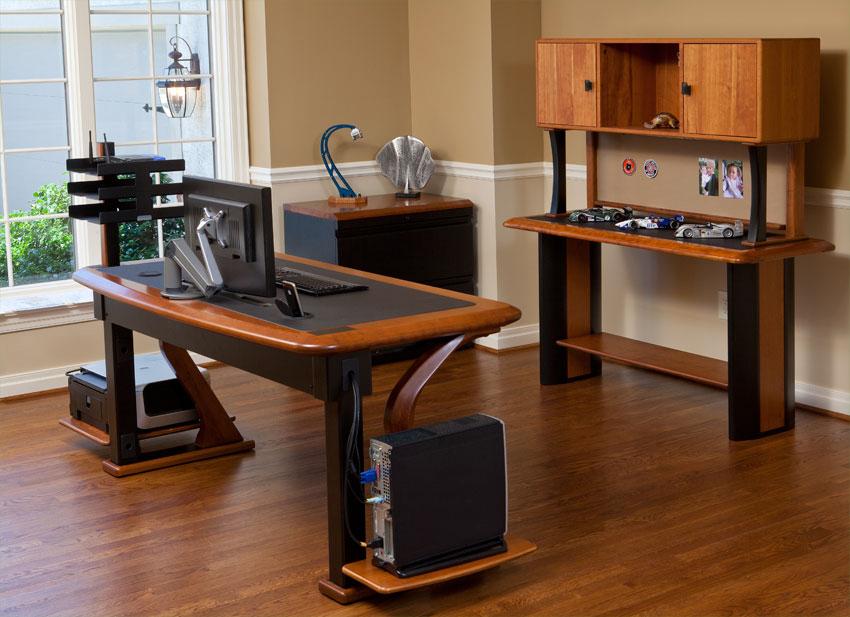 The Computer Shelf Adds Desk
