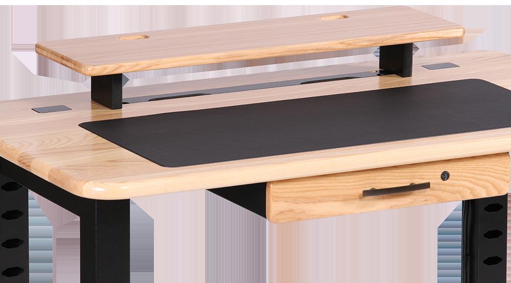 Loft Desktop Riser Shelf Ash