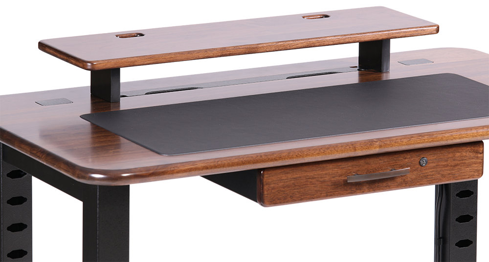 Loft Desktop Riser Shelf Black Walnut