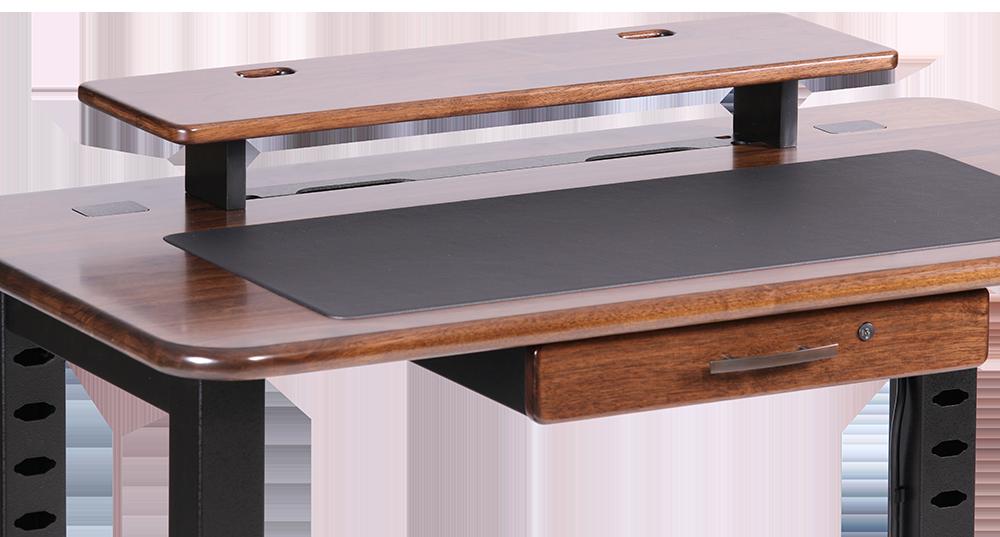 loft desktop riser shelf black walnut - Desk Riser
