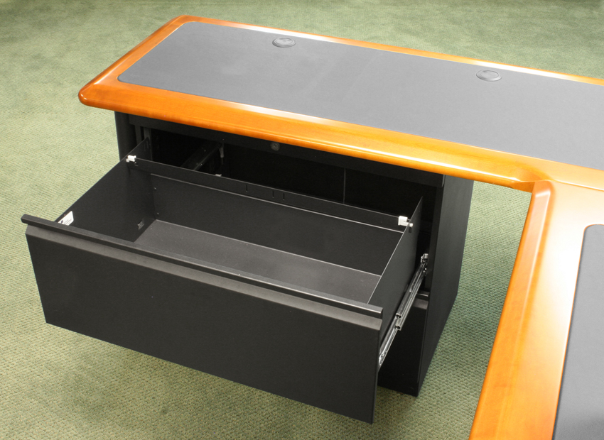 Lateral File Cabinet For L Shaped Desks Caretta Workspace