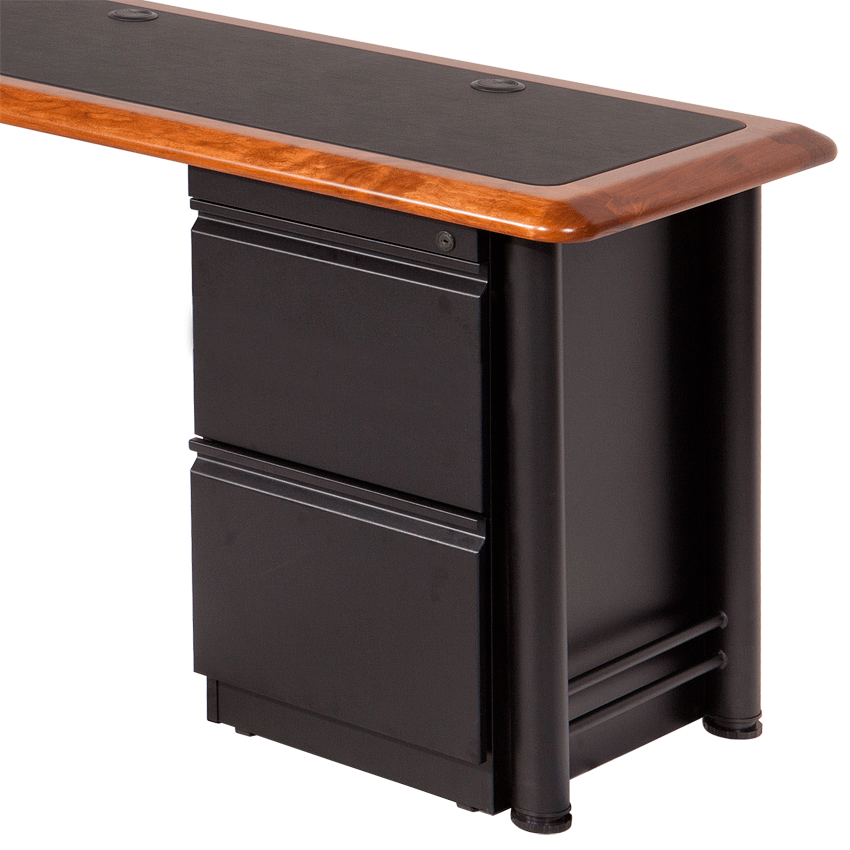 file file cabinet for l shaped desks - caretta workspace