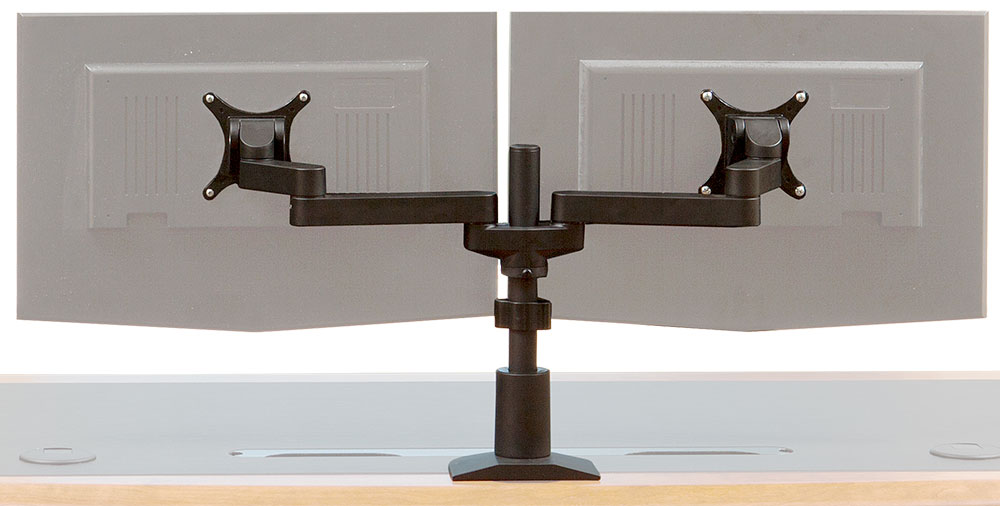 Monitor Arm - Pole Dual Monitor Arm