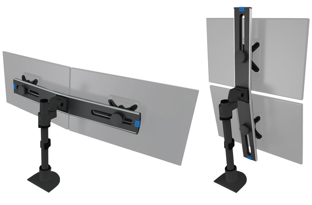 Monitor Arm - Switch Pole Dual Monitor Arm