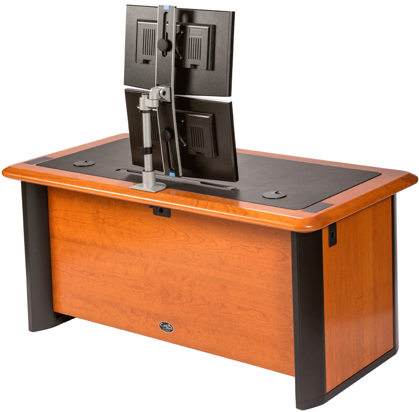 28 Dual Desk Computer Armoire For Two Monitors Type