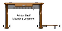 Artistic Printer Shelf Mounting Locations