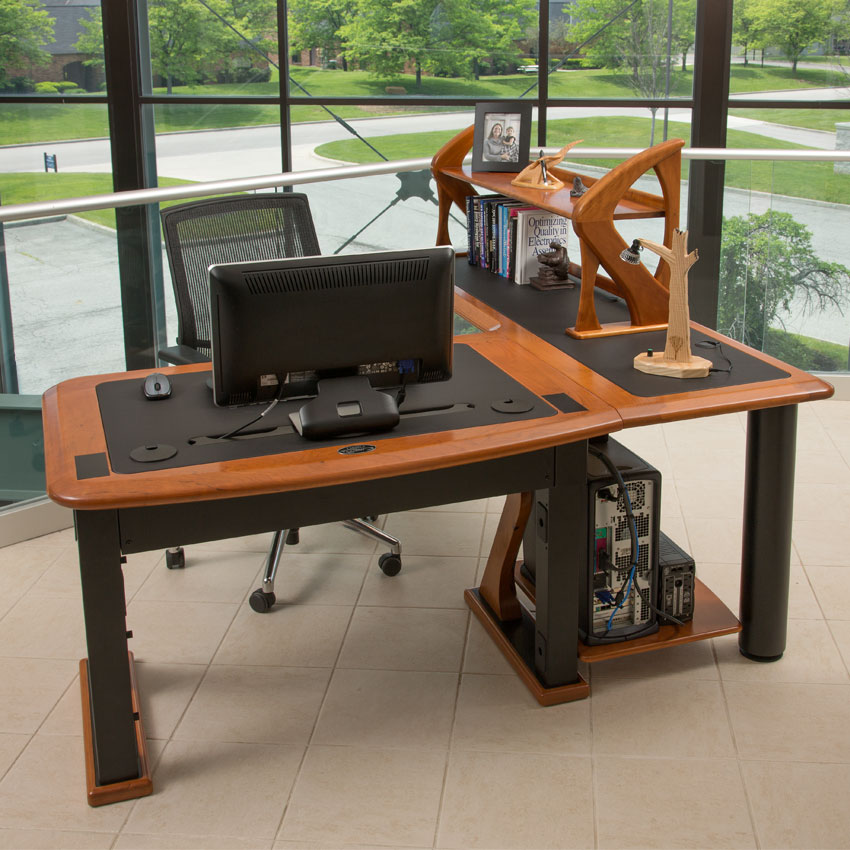 Computer Desk With Printer StandMetal Computer Desk With