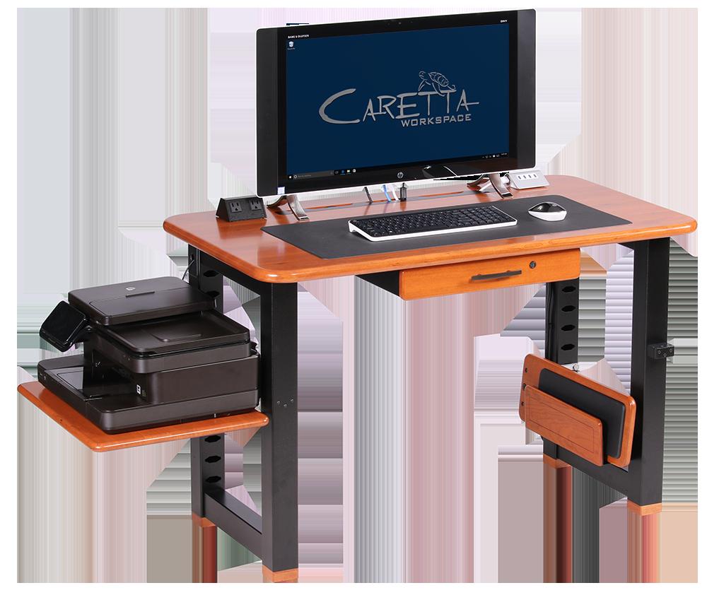 Large shelf for loft desk cherry caretta workspace for Desk for computer and printer