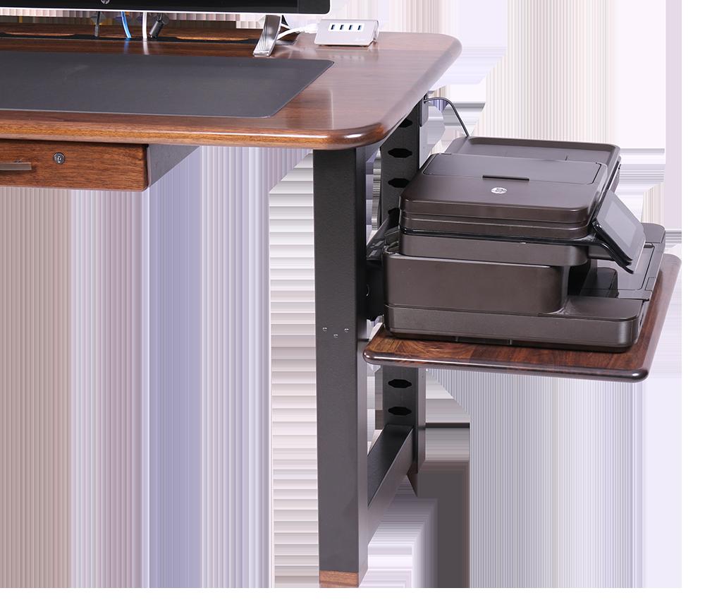 large shelf for loft desk walnut caretta workspace. Black Bedroom Furniture Sets. Home Design Ideas