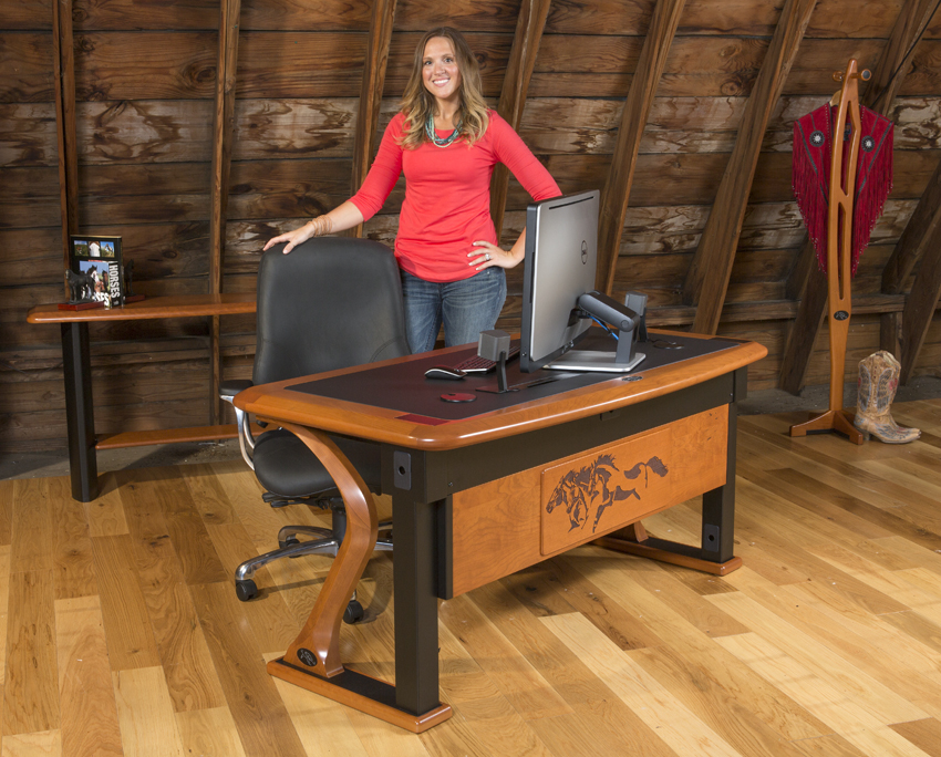The 62 X 32 Artistic Computer Desk Full Is A High End
