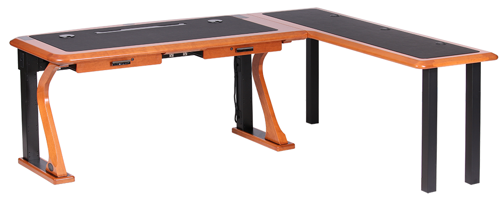 shaped right com...L Shaped Computer Desk For Two
