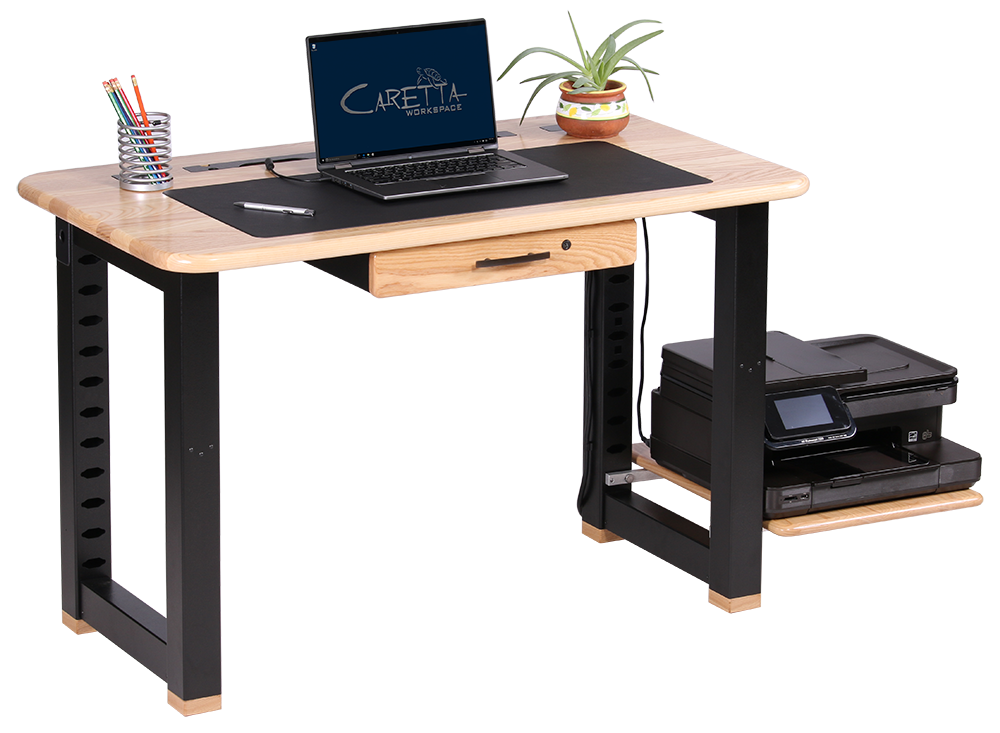 Wood Computer Desk With Printer Shelf Computer Idea To