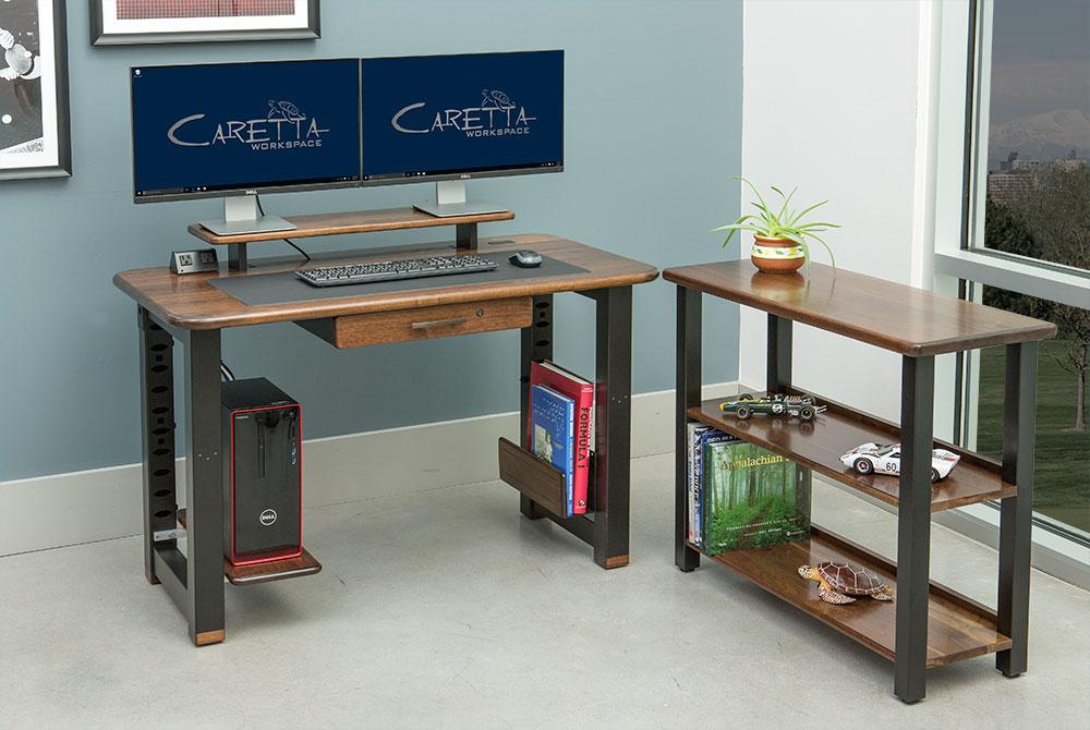 Loft Desk, Black Walnut - Caretta Workspace
