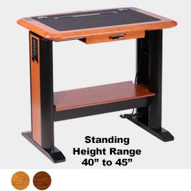 standing computer desk petite