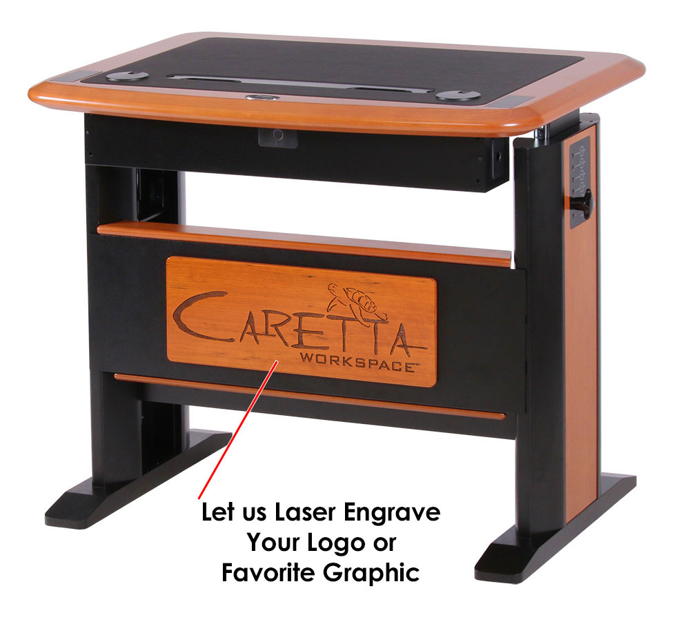 Add your logo or graphic to the desk