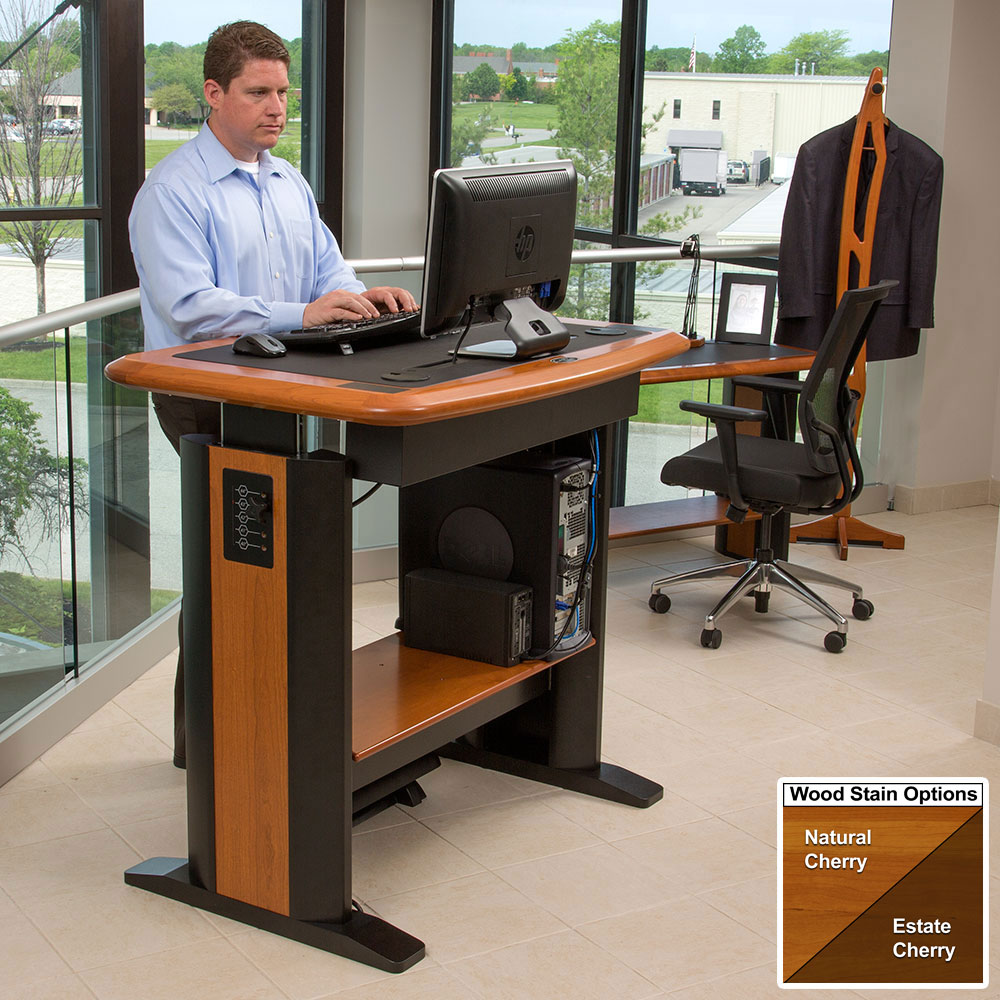 Standing Computer Desk Petite Caretta Workspace
