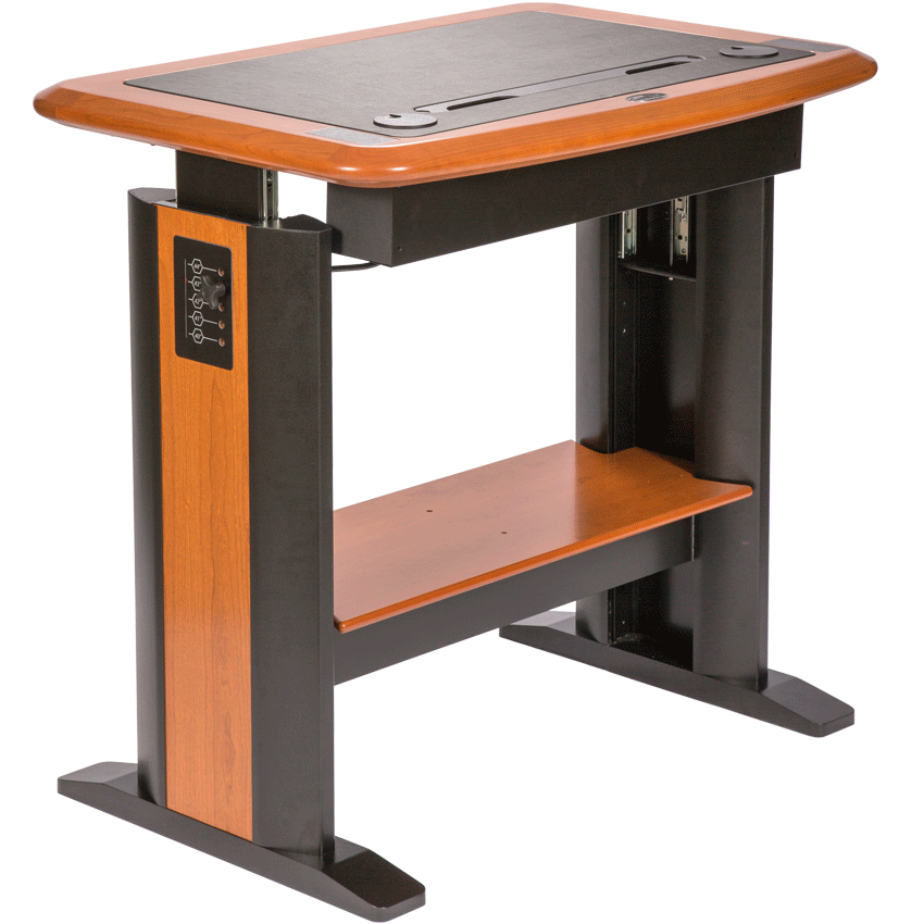 standing computer desk 1 is a small stand up desk that allows the user
