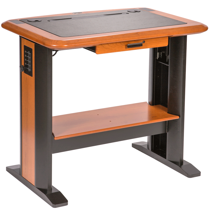 Request standing desk at work sit stand desks do they for Standing desk at home