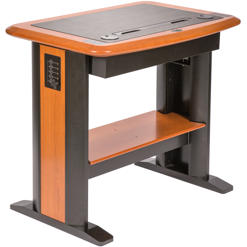 Standing computer desk petite caretta workspace for Chairs for standing desks