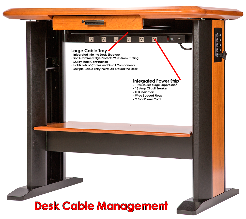 Standing Computer Desk Petite Caretta Workspace