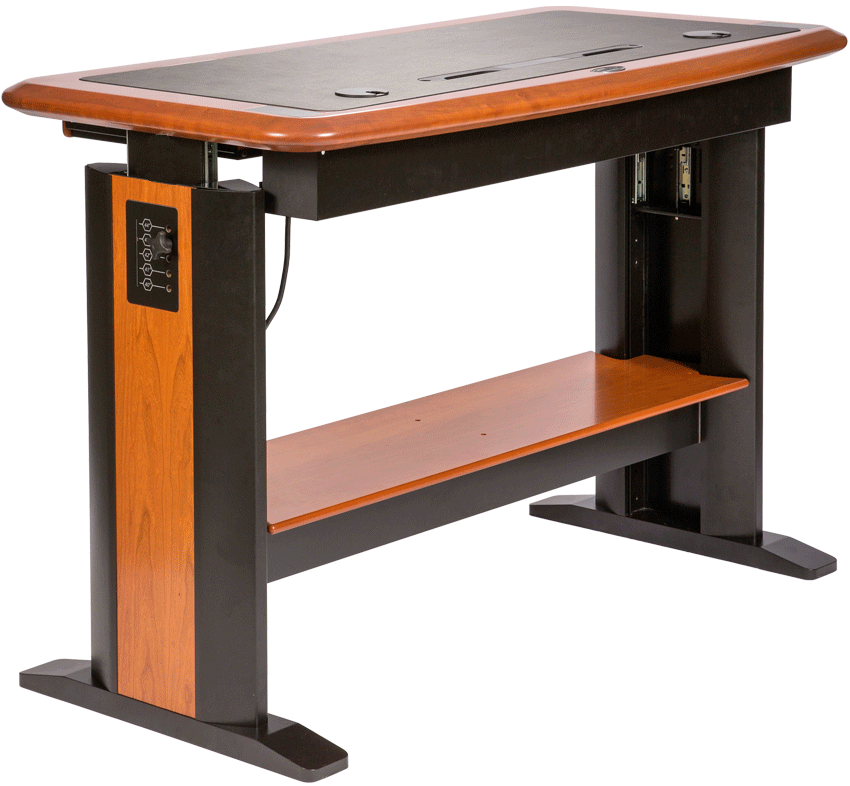 standing computer desk full caretta workspace. Black Bedroom Furniture Sets. Home Design Ideas