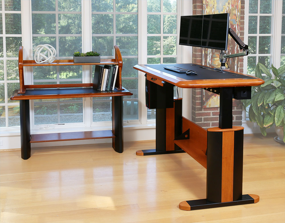 Standing Desks Executive Stand Up Desk: Wellston Executive Sit-Stand Desk, Full Size
