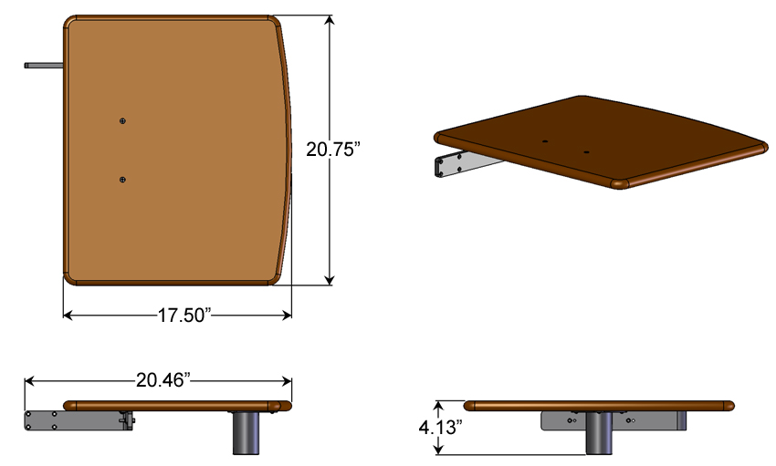Artistic Printer Shelf Dimensions
