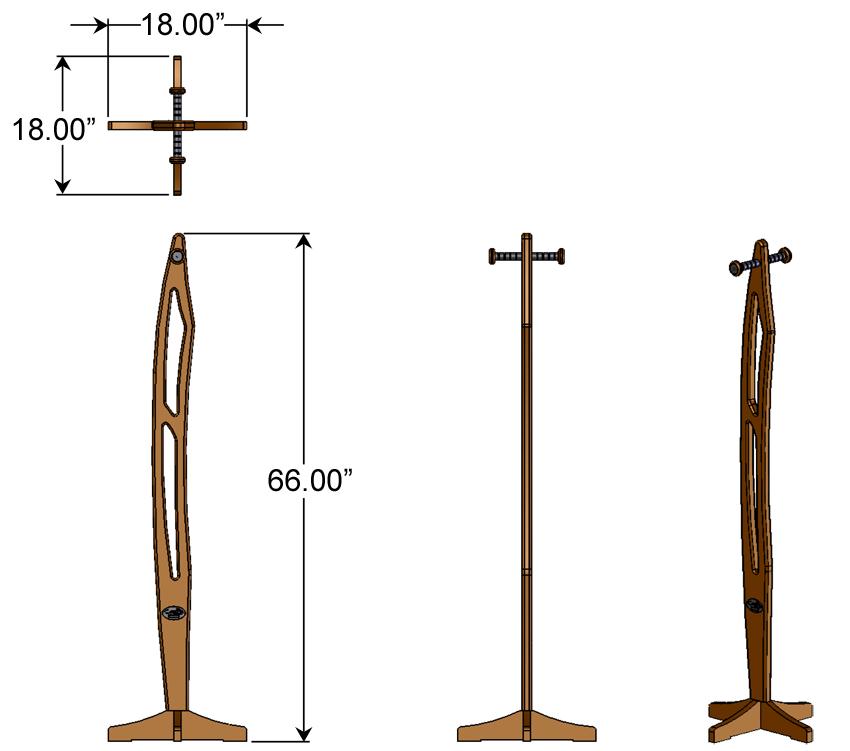 Premium Wood Coat Tree