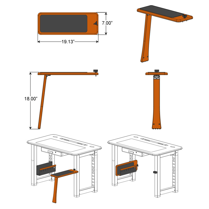 Loft Desk Companion Seat Dimensions