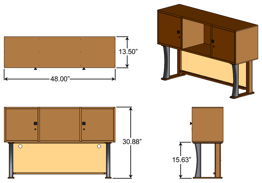 Contemporary Hutch Dimensions