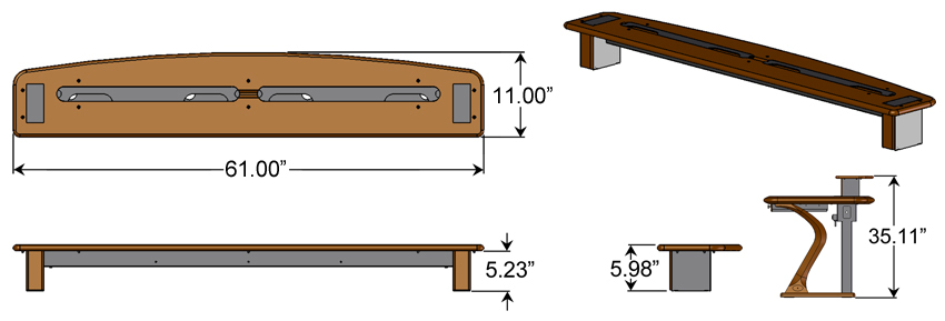 Desktop Riser Shelf 2 Dimensions