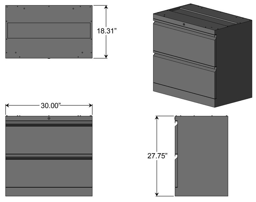 Merveilleux Lateral File Cabinet For L Shaped Desks Dimensions