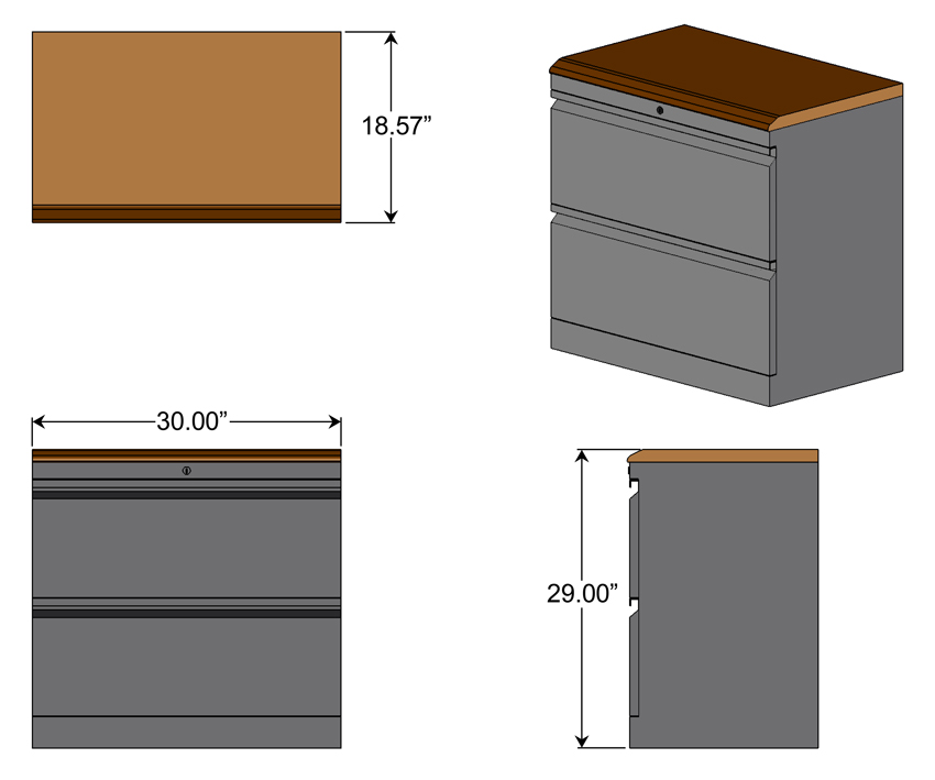 Lateral File Cabinet With Wood Top Dimensions