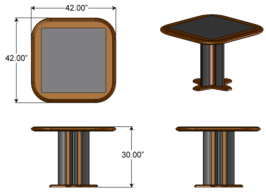 Meeting Table For Four Caretta Workspace