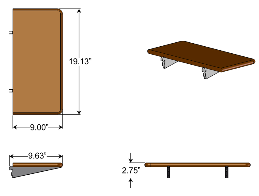 Traditional Computer Shelf Dimensions