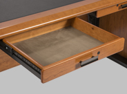 Micro Suede Lined Locking Drawers