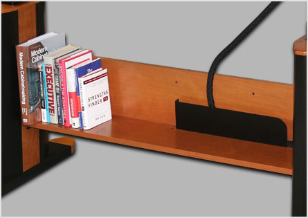 lower desk shelf