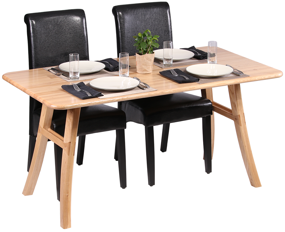 Loft dining table ash caretta workspace for Small apartment dining table
