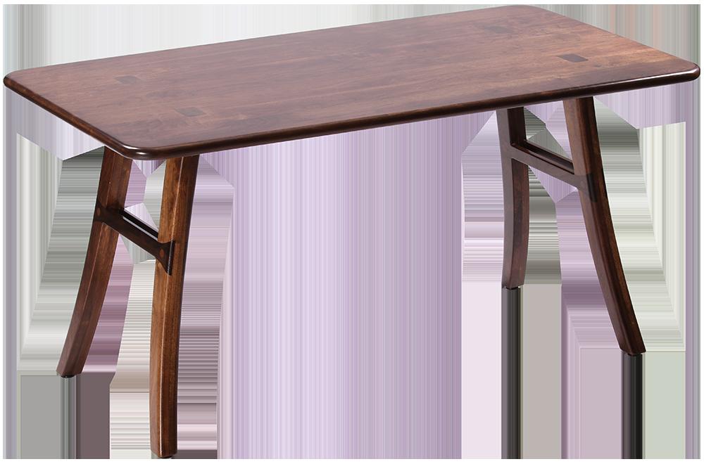 Loft dining table black walnut caretta workspace for Dark hardwood dining table