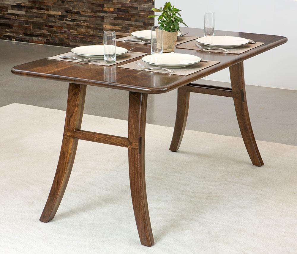 Loft Dining Table, Black Walnut