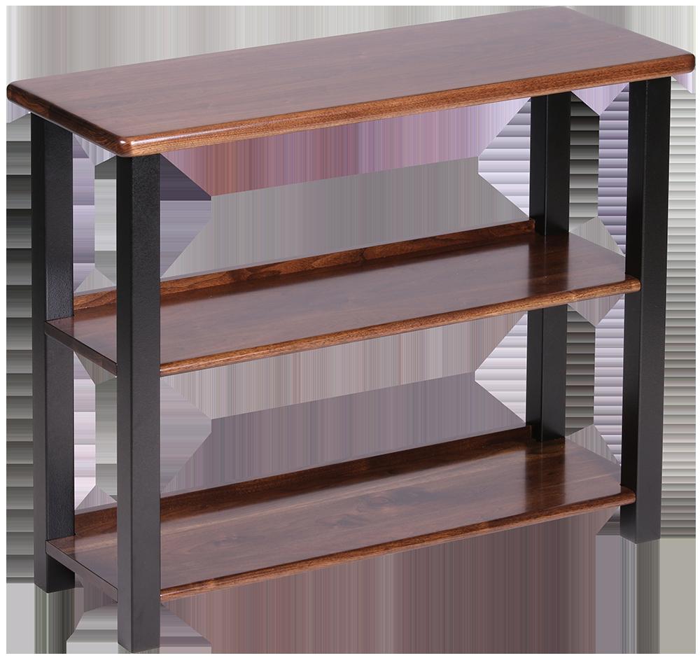 bookshelf table black walnut caretta workspace