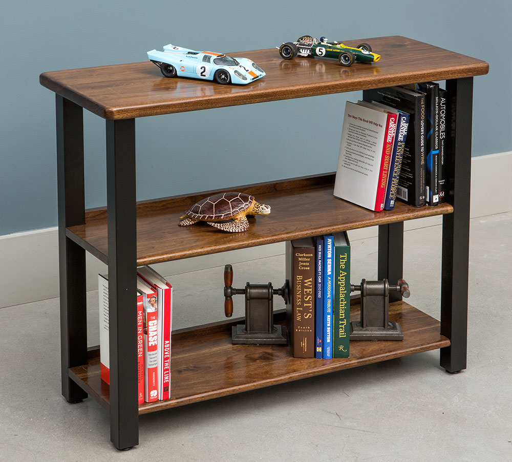 Lovely Bookshelf Table, Black Walnut