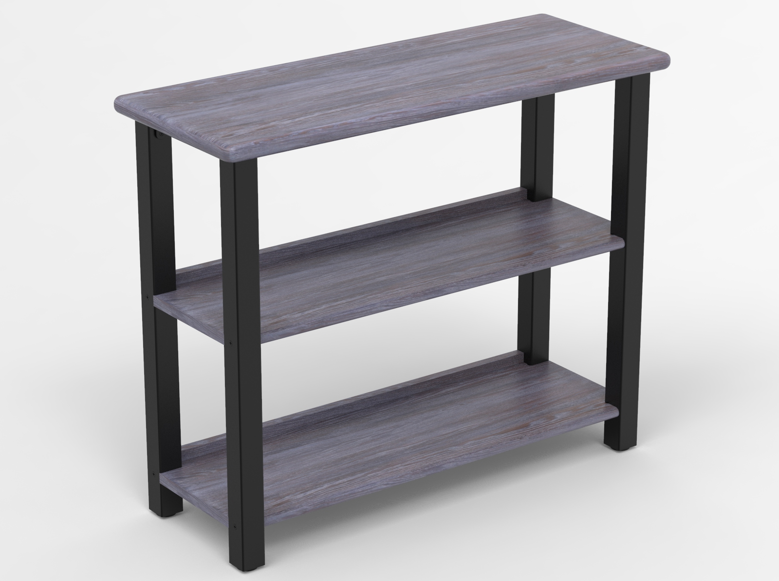 Bookshelf Table, Weathered Gray Oak