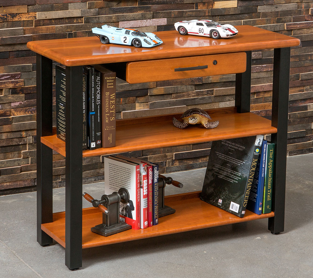 Bookshelf Table With Drawer Cherry