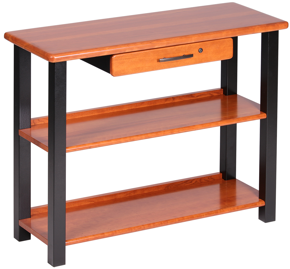 bookshelf table with drawer cherry caretta workspace
