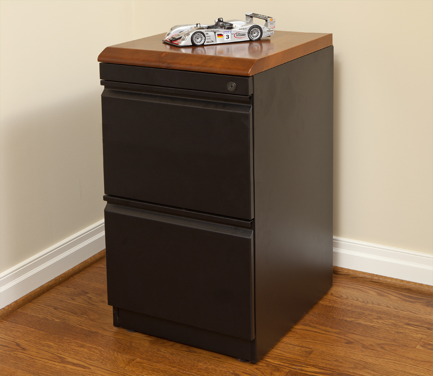 File File Cabinet with Premium Wood Top